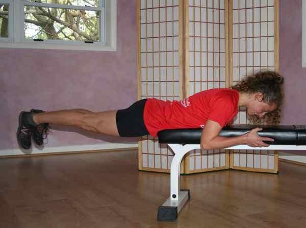 Core Corner Prone Hip Extension On Bench Endurance