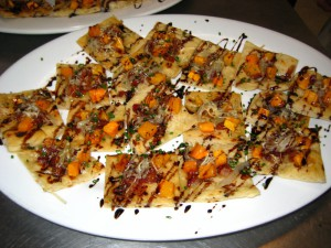 NUTRITION – Flatbread with Goat Cheese Butternut Squash and Roasted Shallot
