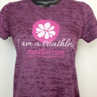 Ramblin' Rose Burnout Tee - Plum:Plum