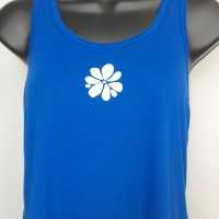 Ramblin' Rose Racerback Tank - Blue