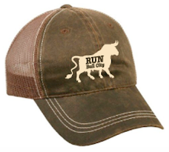 Bull City Stonewash Brown Trucker Hat