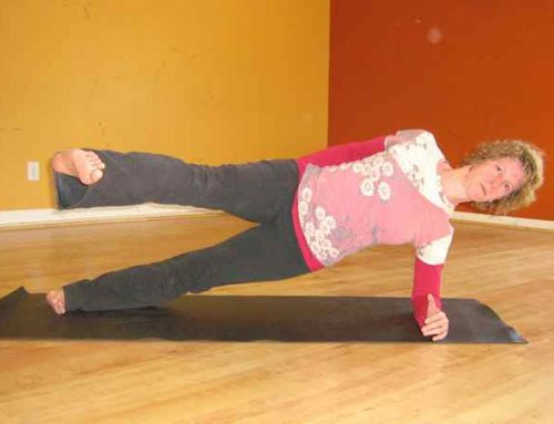 Side Plank with Top Leg Swinging Forward and Back